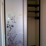 Фото встроенного шкафа с пескоструйным рисунком. Приобрести шкаф купе вы можете в компании Стильный Шкафы