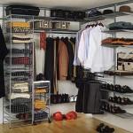 Компактная гардеробная. Вариант гардеробной в маленькую квартиру фото