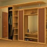 Большой шкаф купе для хранения одежды. Фото красивого шкафа с дверями из ротанга