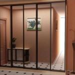 3 метровый шкаф с зеркальными дверями. Фото шкафа купе с профилем под дерево
